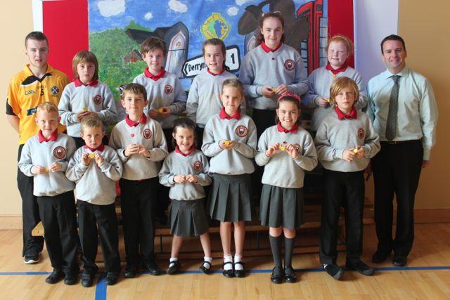 Pupil Council:  Shay, James, Caoimhe, Grace, Hollie, Sean Og, Thomas, Sean Og, Cliodhna, Emma, Sarah and James.